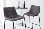 Barstuhl Django vintage grau Eisen/ 38110