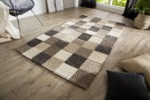 Teppich Yarn III 200x120cm grau Patchwork/ 38252