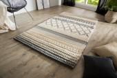 Teppich Yarn 200x120cm grau Strickmuster/ 38253