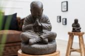 Statue Shaolin Buddha 40cm Naturstein/ 37638