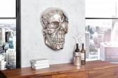 Wandskulptur Skull 40cm silber/ 38383