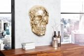 Wandskulptur Skull 40cm gold/ 38385