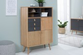 Highboard Globetrotter 120cm natur anthrazit/38319