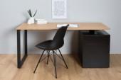 Schreibtisch Compact 160cm schwarz Eiche/ 38426