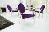Stuhl Modern Barock lila/ 37983