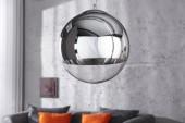Hängeleuchte Globe 30cm silber/ 37725