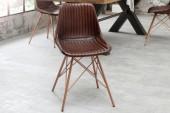 Stuhl Toro braun gesteppt Leder/ 38482