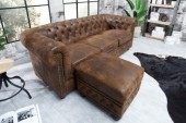 Fußhocker Chesterfield antik braun/ 38519