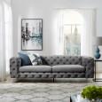 Sofa Modern Barock 238cm grau/ 38714