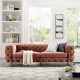 Sofa Modern Barock 238cm apricot/ 38715