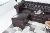 Fußhocker Chesterfield dark coffee/ 38521