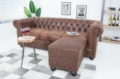 Fußhocker Chesterfield braun Leder/ 38522