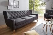 Sofa Hygge 3er 210cm anthrazit/ 38325