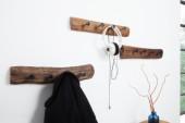 Wandgarderobe Hemingway 50cm Recyclingholz/ 38303