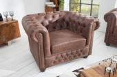 Sessel Chesterfield vintage braun/ 37200