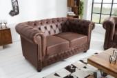 Sofa Chesterfield 2er vintage braun/ 37201