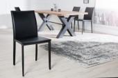 Stuhl Milano schwarz Leder/ 4139