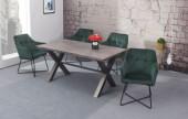 Stuhl Loft Armlehne Samt grün/ 38862