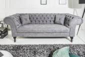 Sofa Euphoria 230cm grau Baumwolle/ 38859