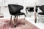 Stuhl Modern Barock II Samt schwarz/ 38871