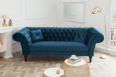 Sofa Euphoria 230cm königsblau Samt/ 38217