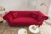 Sofa Euphoria 230cm rot Samt/ 38235
