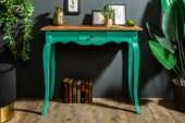 Schreibtisch Hemingway 80cm grün Mahagoni/ 38959