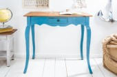 Schreibtisch Hemingway 80cm blau Mahagoni/ 38960