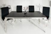 Esstisch Modern Barock 180cm schwarz/ 36544