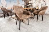 Stuhl Turin Armlehne taupe grau/ 38790