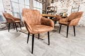Stuhl Turin Armlehne vintage hellbraun/ 38789