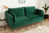 Sofa Famous 3er 210cm grün Samt/ 39025