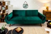 Schlafsofa Divani 215cm grün Samt/ 39030