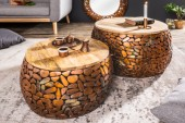 Couchtisch Stone Mosaic 2er Set kupfer/ 38750