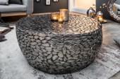 Couchtisch Stone Mosaic 85cm silber/38751