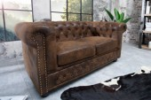 Sofa Chesterfield 2er braun Antik Look/ 17109