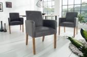 Stuhl Valentino grau Armlehne/ 39014