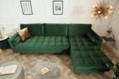 Ecksofa Cozy Velvet dunkelgrün Samt/ 39388