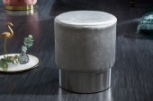 Hocker Modern Barock 35cm silber silber/ 39244