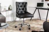 Bürostuhl Victorian schwarz Armlehne/ 39346