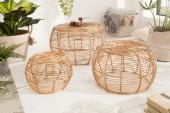 Couchtisch 3er Set Bamboo Lounge Rattan/ 39120