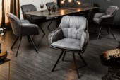 Stuhl Lounger grau anthr. Armlehne/ 39301