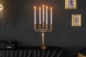 Kerzenständer 5-armig gold 40cm/ 20409