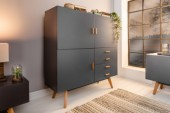 Highboard Scandinavia 140cm grau/ 38909