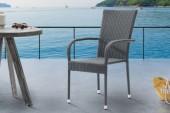 Gartenstuhl Nizza stapelbar grau/ 39071
