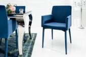 Stuhl Milano königsblau Armlehne Samt/ 39417