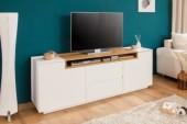 TV-Board Loft 180cm weiss Eiche/ 39451