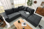Ecksofa Scandinavia 250cm anthrazit Hocker/ 39314