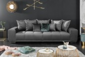 Sofa Elegancia 280cm silbergrau Samt/ 39613