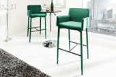 Barstuhl Milano smaragdgrün Samt/ 39418